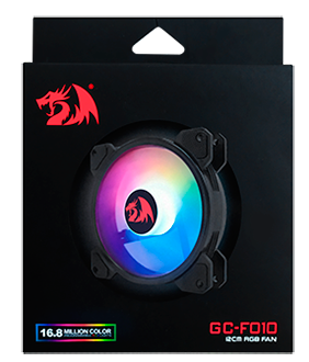 Cooler para Gabinete Redragon F010, RGB, 120mm, F010