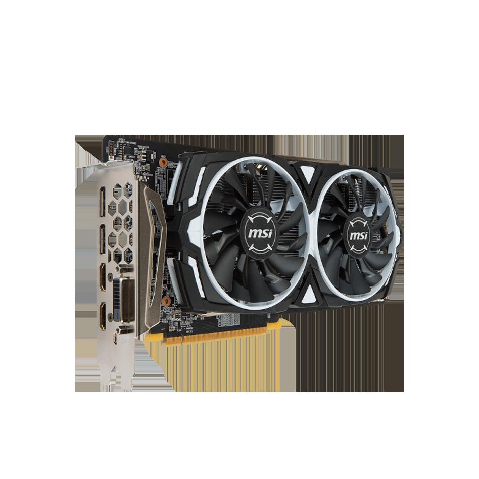 PLACA DE VÍDEO MSI RX 580 ARMOR OC  GDDR5 8GB