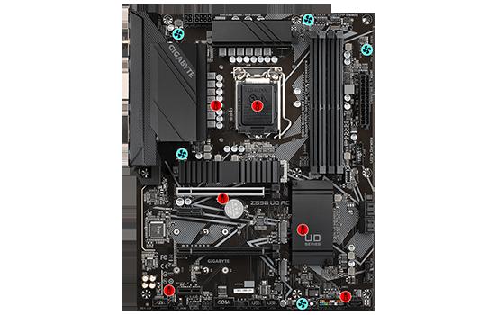 PLACA MÃE GIGABYTE Z590 UD ACZ590 EXPRESS CHIPSET SOCKET 1200 ATX DDR4