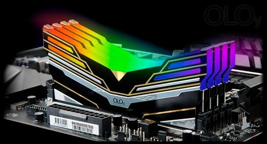 Memória DDR4OLOy WarHawk Black, 8GB, 3000MHZ, RGB, MD4U083016BESA