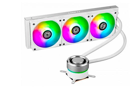 Water Cooler Lian Li, Galahad, RGB 360mm, Intel-AMD, GA-360A WHITE