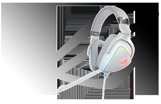 Headset Gamer Asus, ROG Delta White, RGB, USB-C, White, 90YH02HW-B2UA00