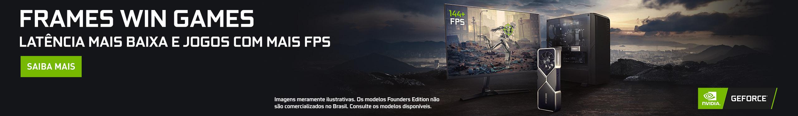 Latência mais baixa e jogos com mais FPS