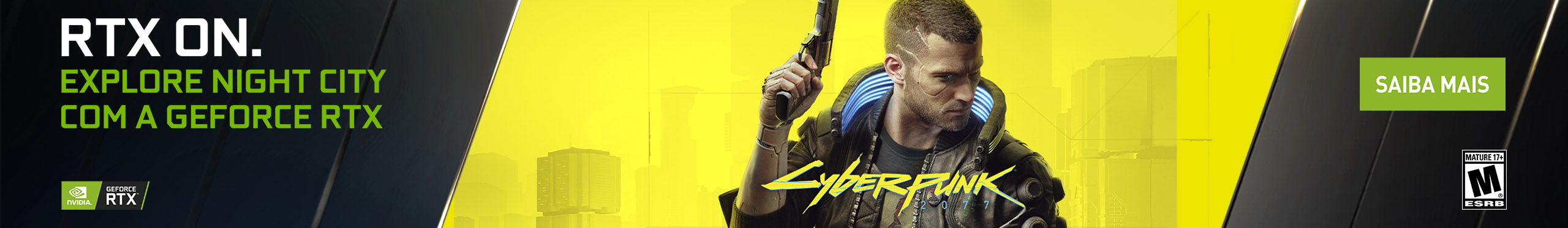 Jogue Cyberpunk 2077 com a GeForce RTX