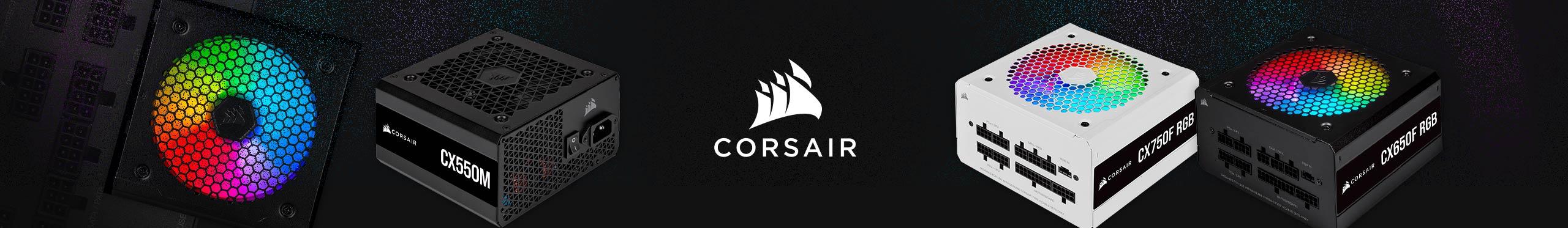 Energia eficiente para seu PC é só com as Fontes Corsair.