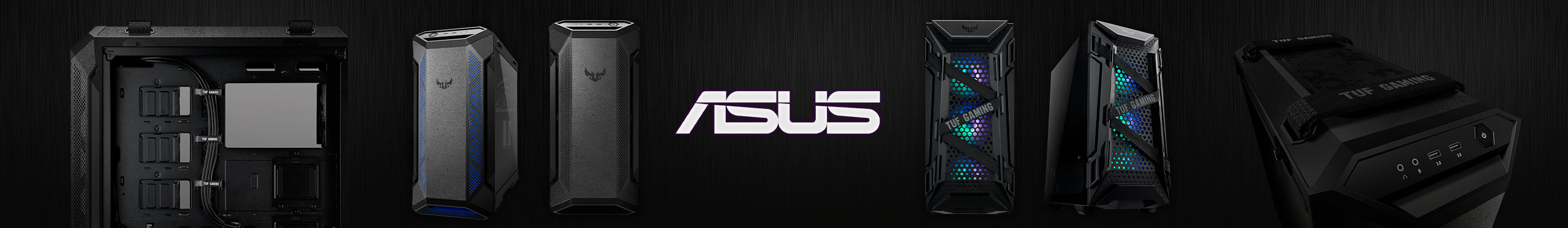 Durabilidade e segurança é só com os gabinetes Asus.