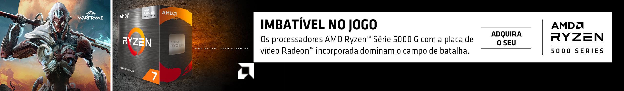 Os novos processadores AMD Ryzen Série 5000G dominam o campo de batalha. Garanta já o seu!