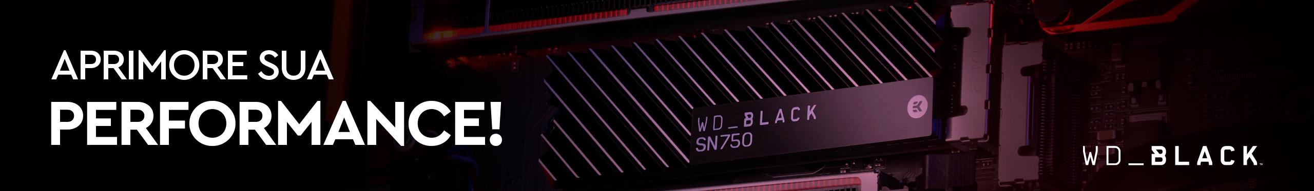 Aprimore sua velocidade com os SSDs WD BLACK.