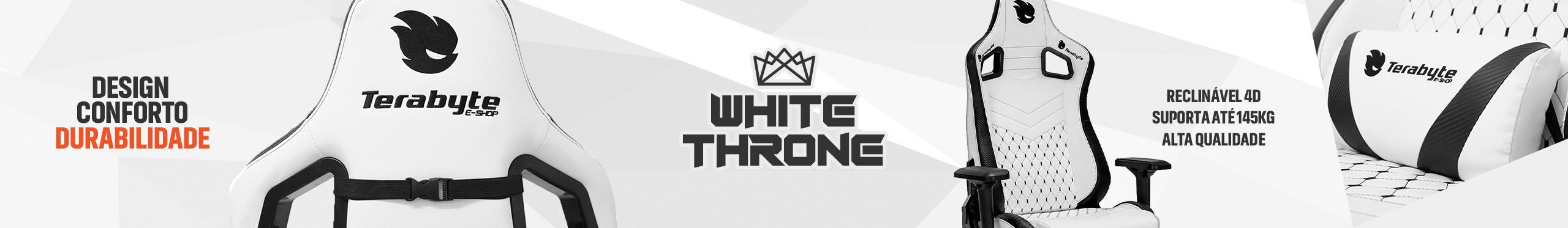 Terabyte White Throne. O verdadeiro trono dos gamers.