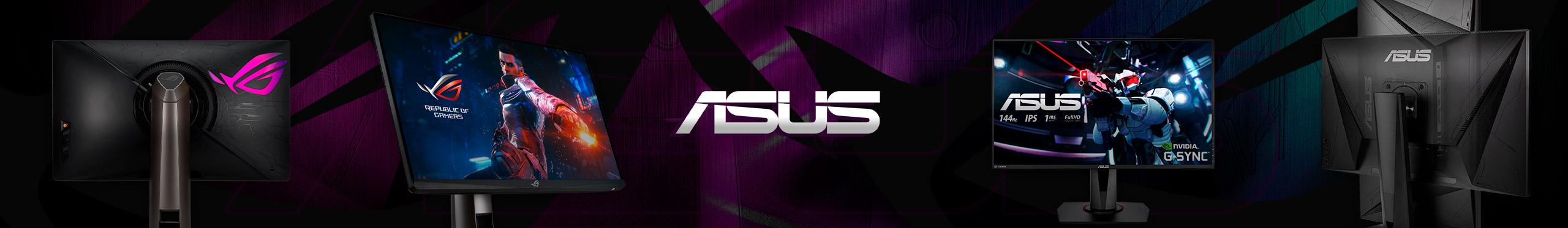 O monitor ideal para seu setup gamer é ASUS.