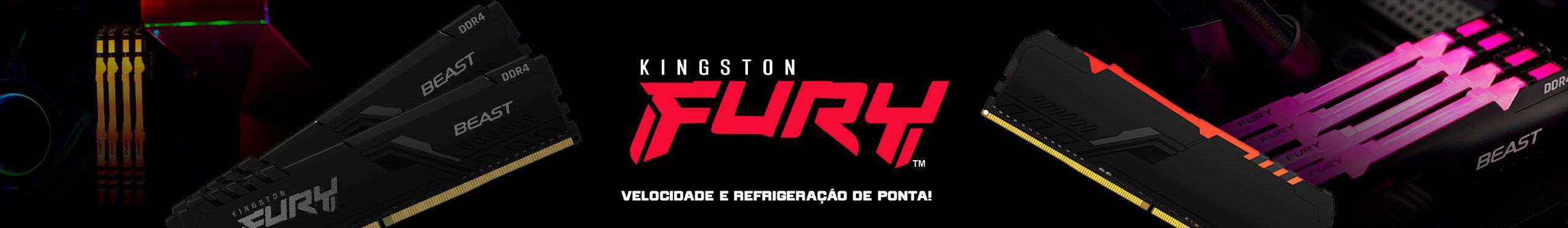 Velocidade e refrigeração de ponta é só com as Memórias Fury Beast RGB da Kingston!