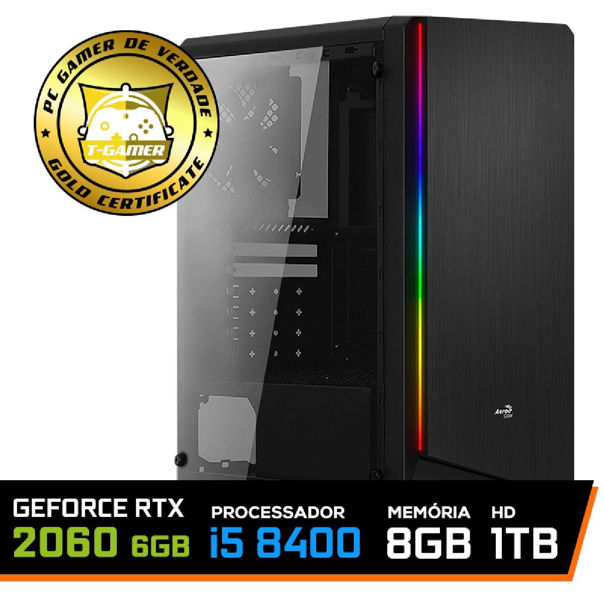Pc Gamer Super Soldier Lvl-4 Intel Core I5 8400 8ª Gen / Geforce Rtx 2060 6GB / 8gb Ddr4 / Hd 1tb / 600w