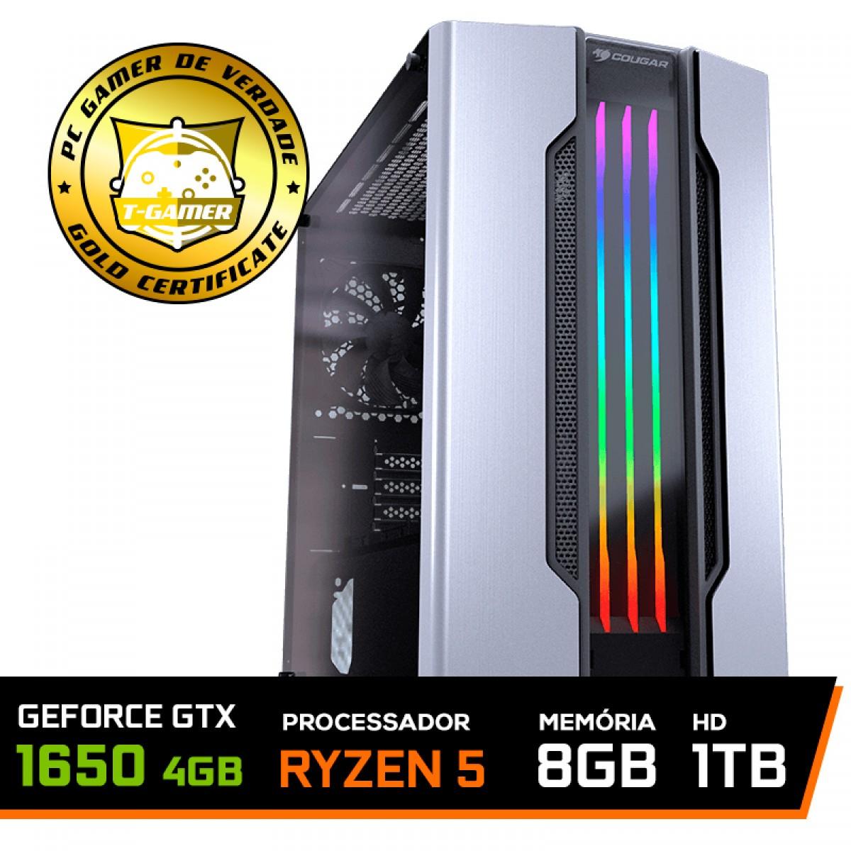Pc Gamer Super Streamer Lvl-2 Amd Ryzen 5 2600X 3.6GHZ / Geforce Gtx 1650 4Gb / 8Gb Ddr4 / Hd 1Tb / 500W