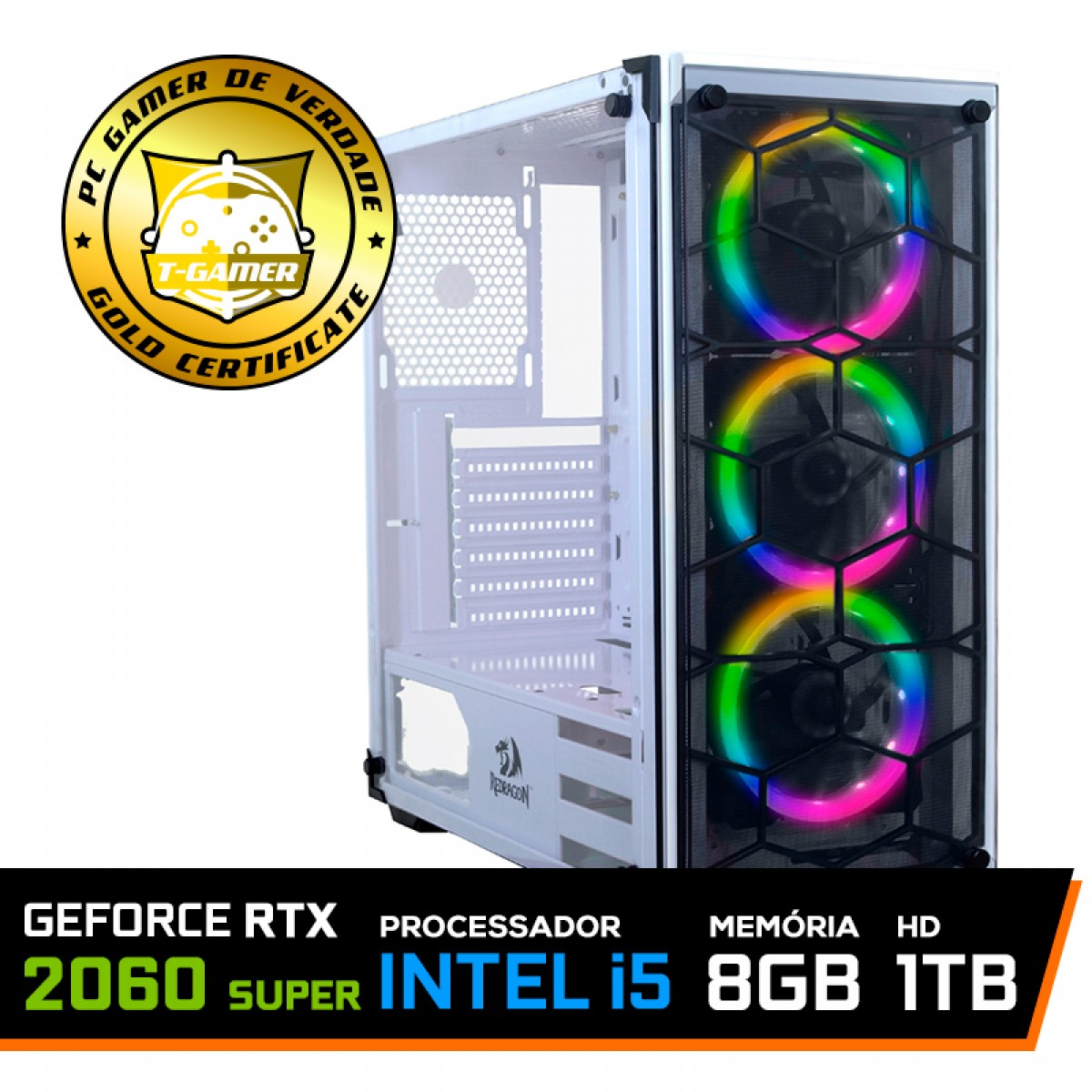 Pc Gamer Blade LVL-11 Intel Core i5 10400 /Geforce RTX 2060 Super / DDR4 8GB / HD 1TB / 600W