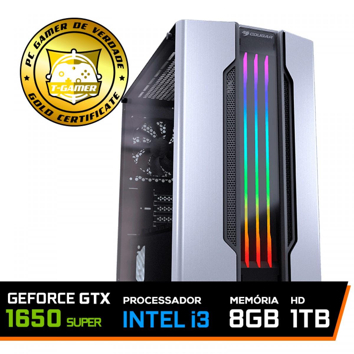 Pc Gamer T-Gamer Dominator Lvl-5 Intel I3 9100F / Geforce GTX 1650 Super / DDR4 8GB / HD 1TB