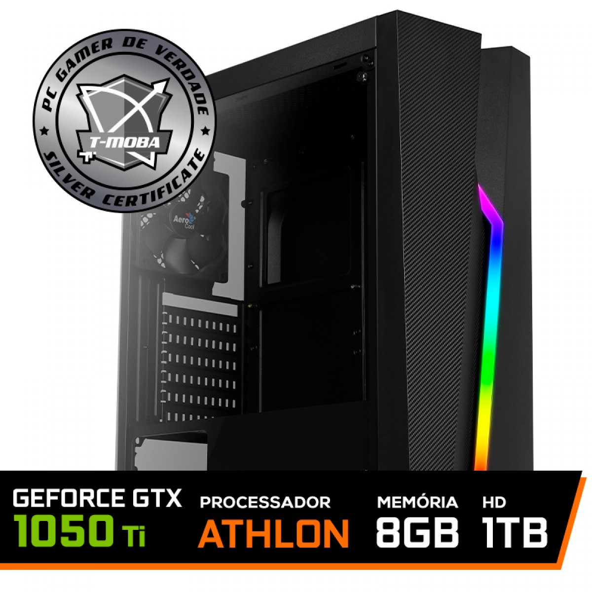 Pc Gamer T-Moba Gladiator LVL-1 AMD Athlon 3000G / Geforce Gtx 1050 Ti / DDR4 8GB / HD 1TB