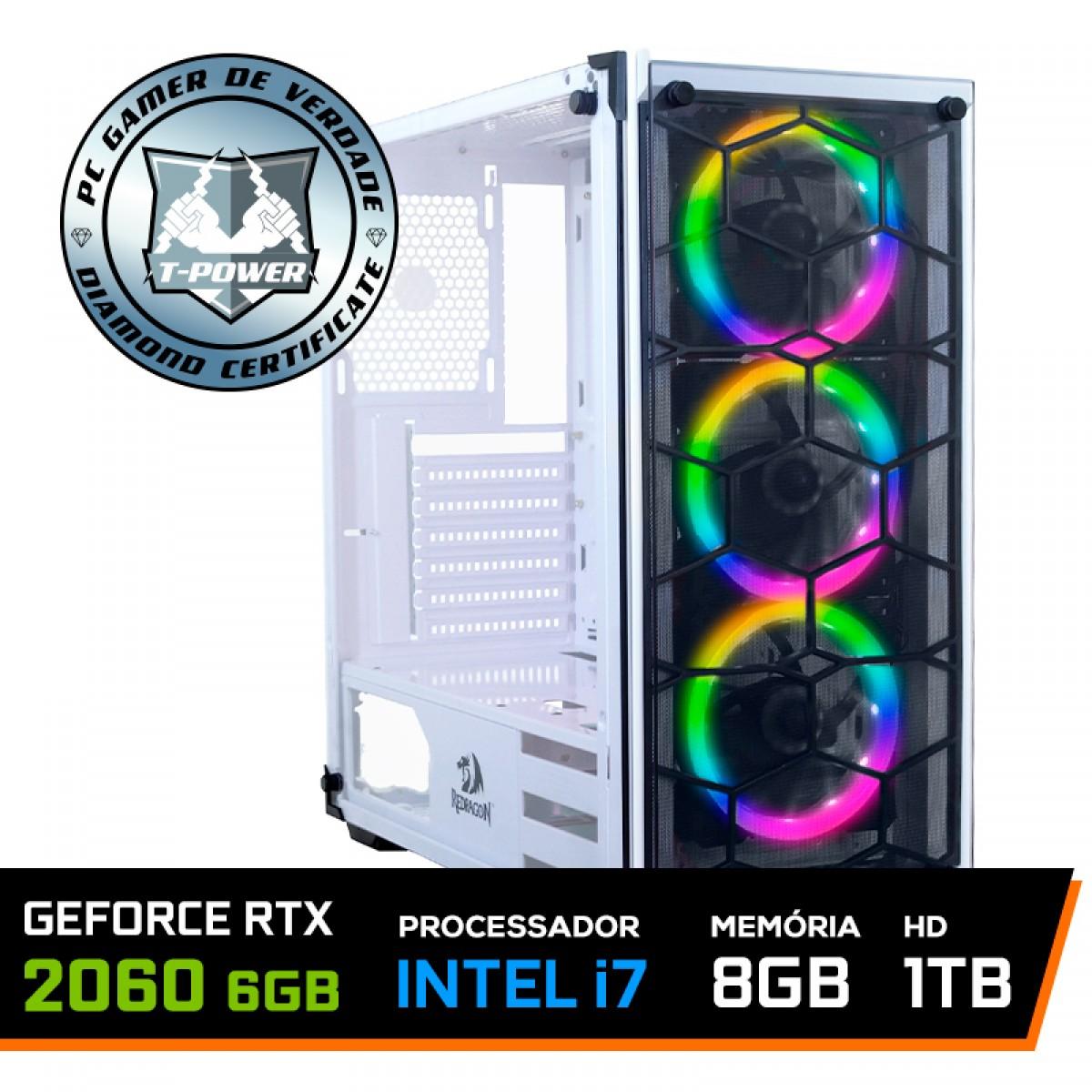 PC Gamer T-Power Special Intel I7 9700K 3.60GHz / GeForce RTX 2060 6GB / 8GB DDR4 / HD 1TB / 600W