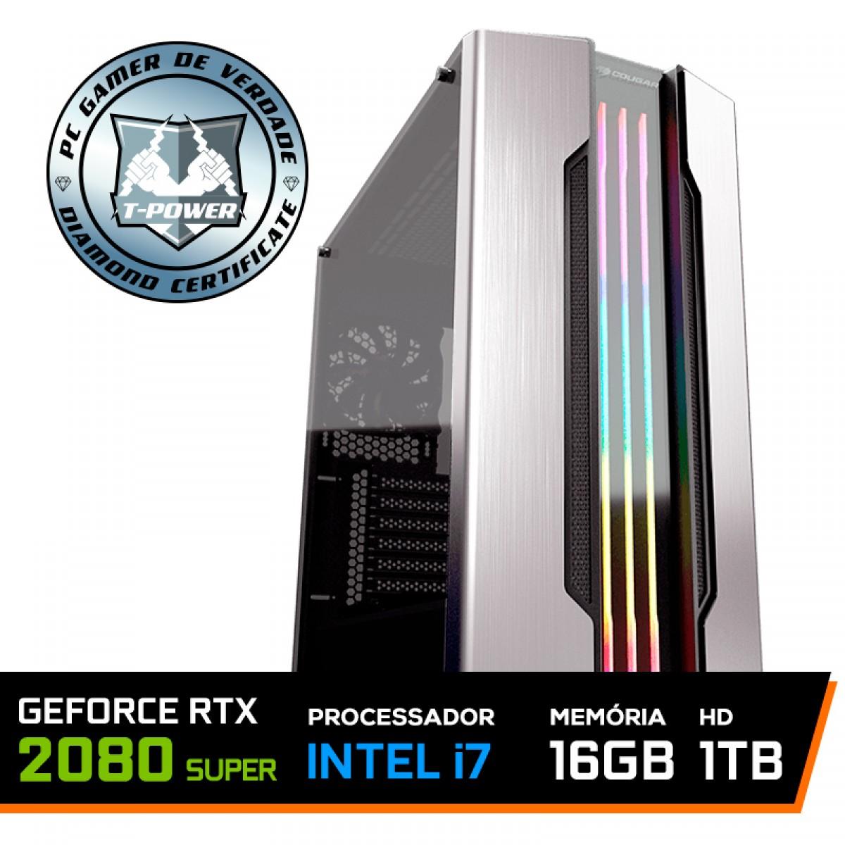 PC Gamer T-Power Captain Lvl-5 Intel I7 9700K 3.60GHz / Geforce RTX 2080 Super / 16GB DDR4 / HD 1TB / 600W