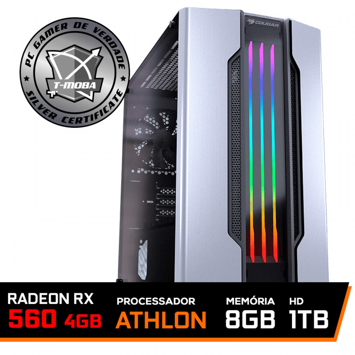 Pc Gamer Tera Edition AMD Athlon 3000G / Radeon Rx 560 4GB / DDR4 8GB / HD 1TB / 500W