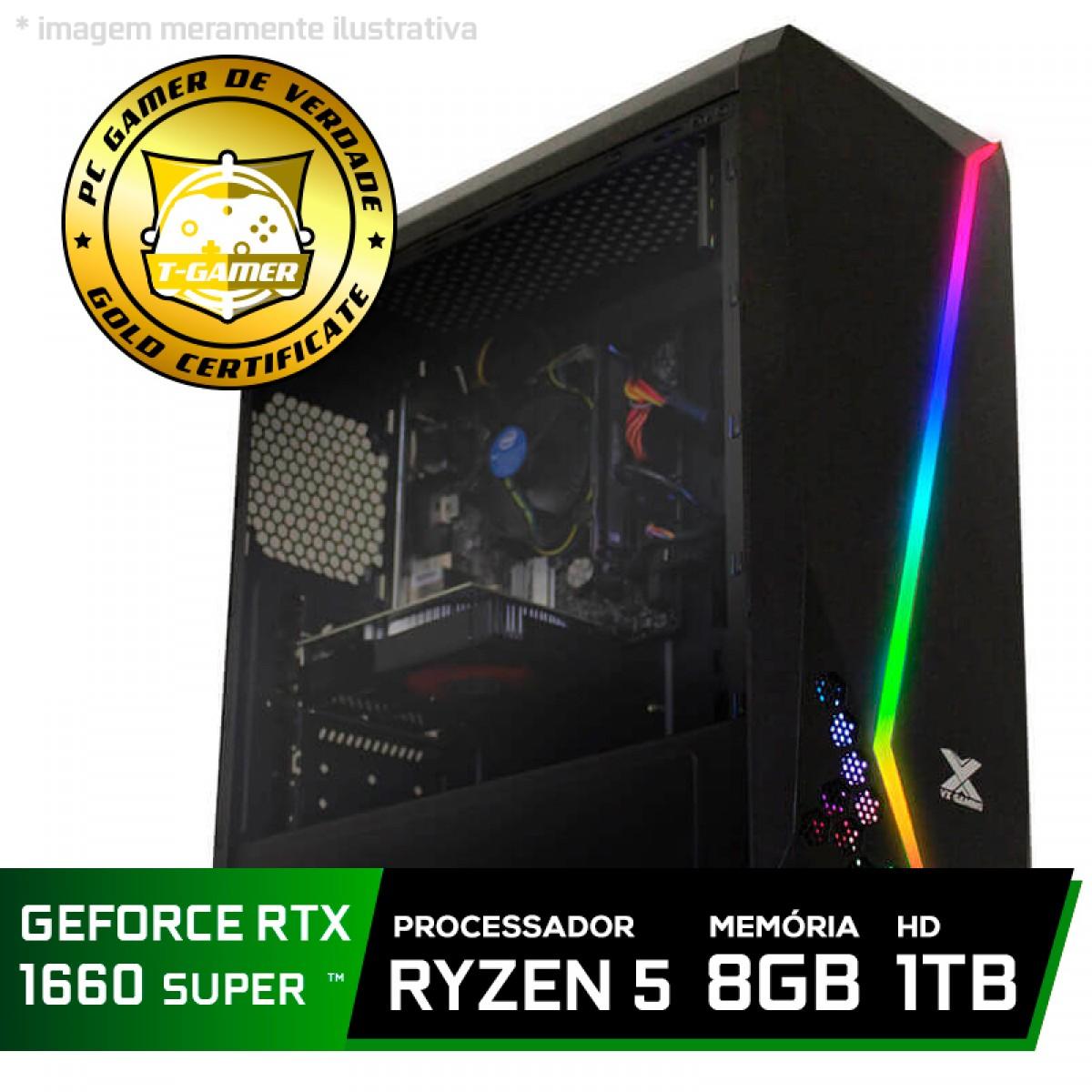 Pc Gamer Tera Edition Amd Ryzen 5 2600 / GeForce GTX 1660 Super 6GB / DDR4 8Gb / HD 1TB / 500W