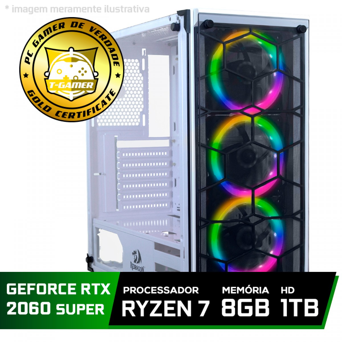 Pc Gamer Tera Edition Amd Ryzen 7 2700 / GeForce RTX 2060 Super / DDR4 8GB / HD 1TB / 600W