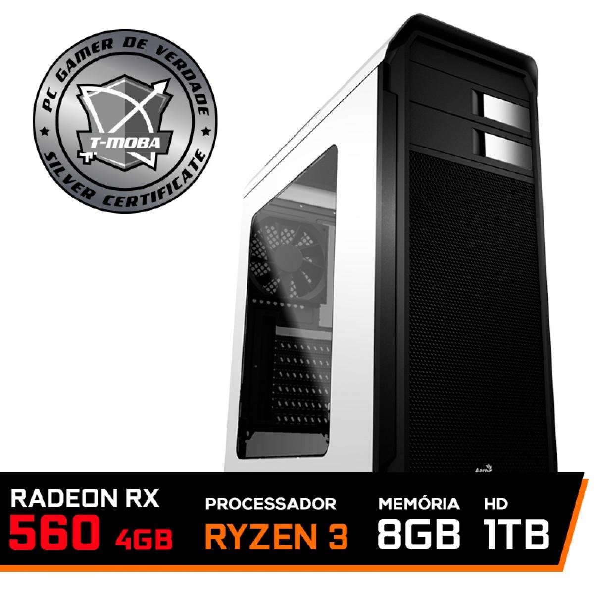 Pc Gamer Tera Edition AMD Ryzen 5 3400G / Radeon Rx 560 4GB / DDR4 8GB / HD 1TB / 500W