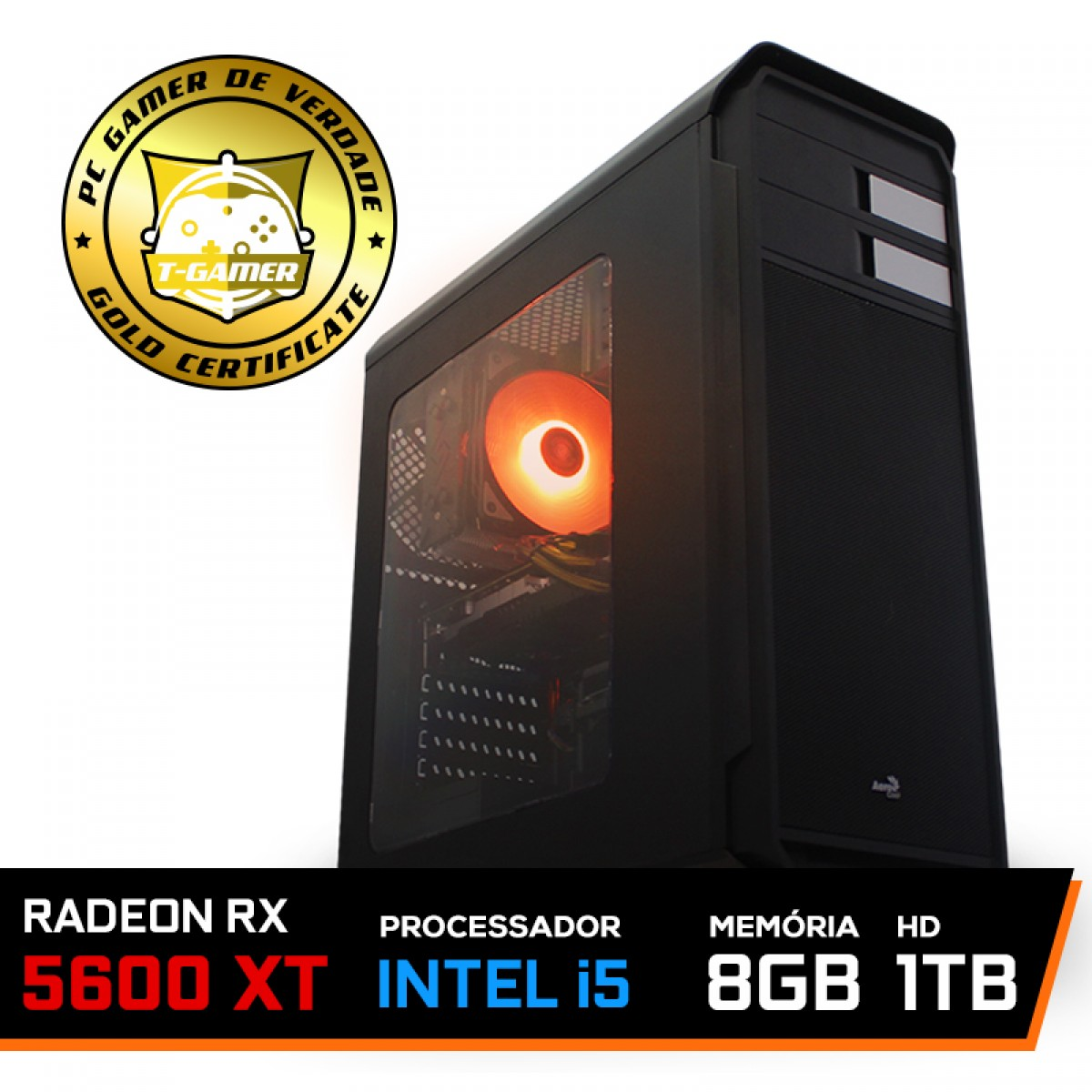 Pc Gamer Maximus LVL-4 Intel i5 9600KF / Radeon RX 5600 XT 8GB / DDR4 8GB / HD 1TB / 600W