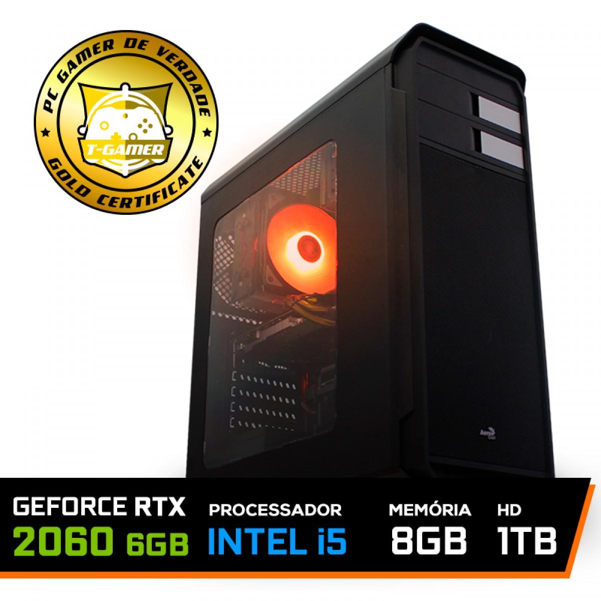 Pc Gamer Maximus Lvl-3 Intel i5 9600KF / GeForce RTX 2060 6GB / DDR4 8GB / HD 1TB / 500W