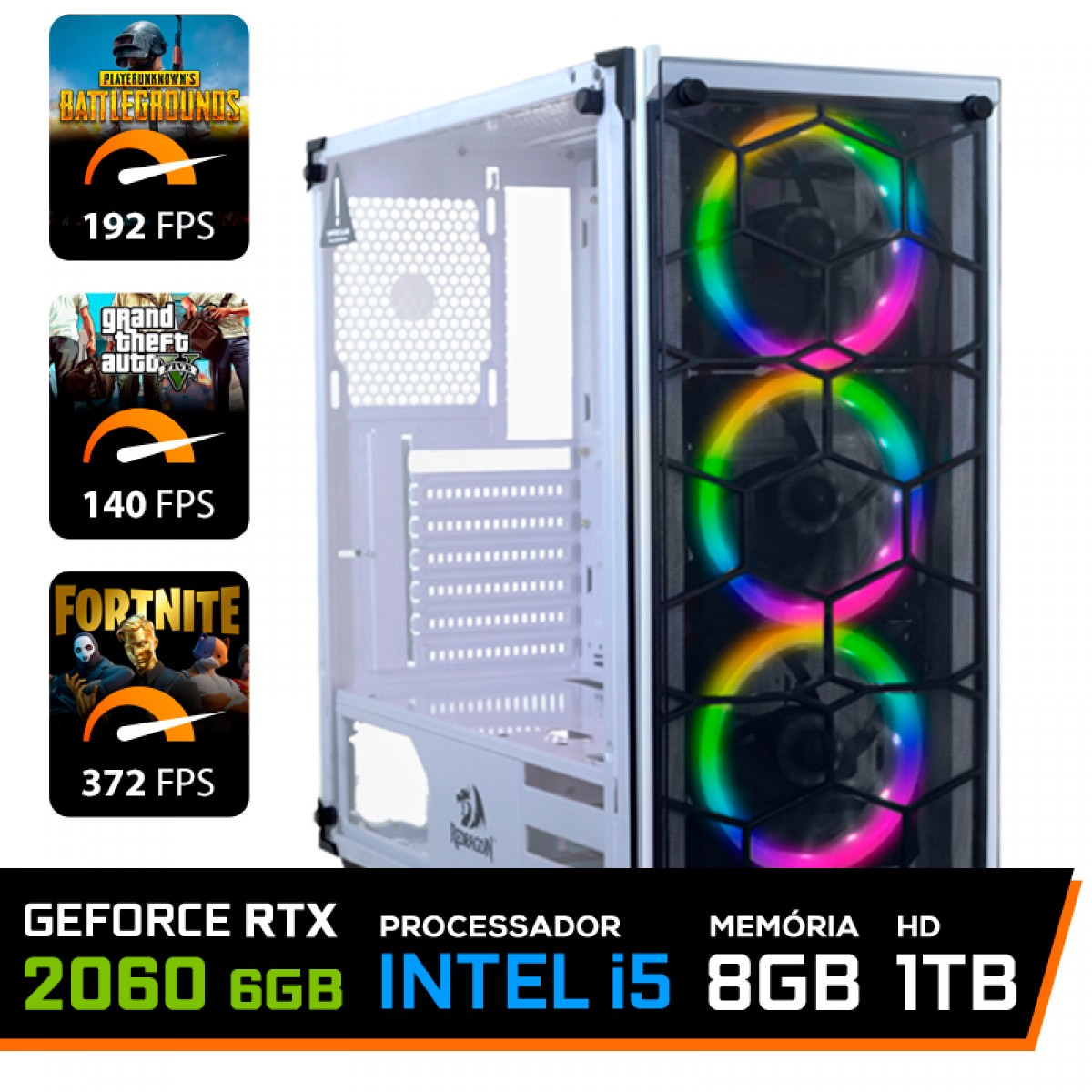 Pc Gamer T-Soldier Lvl-5 Intel Core i5 9400F / GeForce RTX 2060 6GB / DDR4 8GB / HD 1TB / 500W