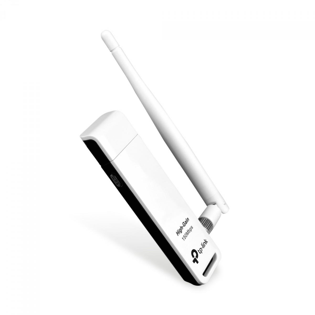 Adaptador Wireless N USB TP-Link, 150Mbps, TL-WN722N