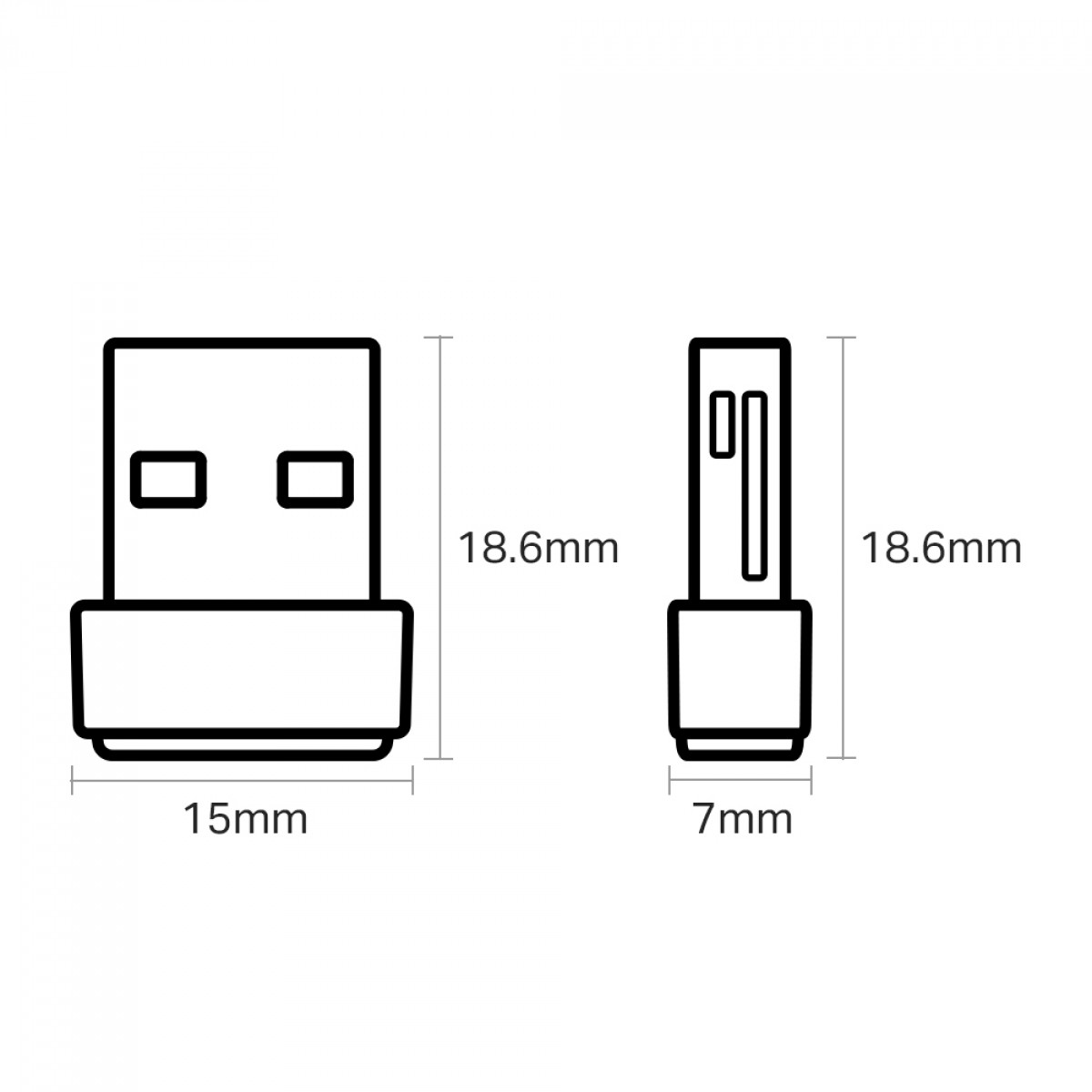 Adaptador Wireless TP-Link USB, Archer T2U Nano AC600