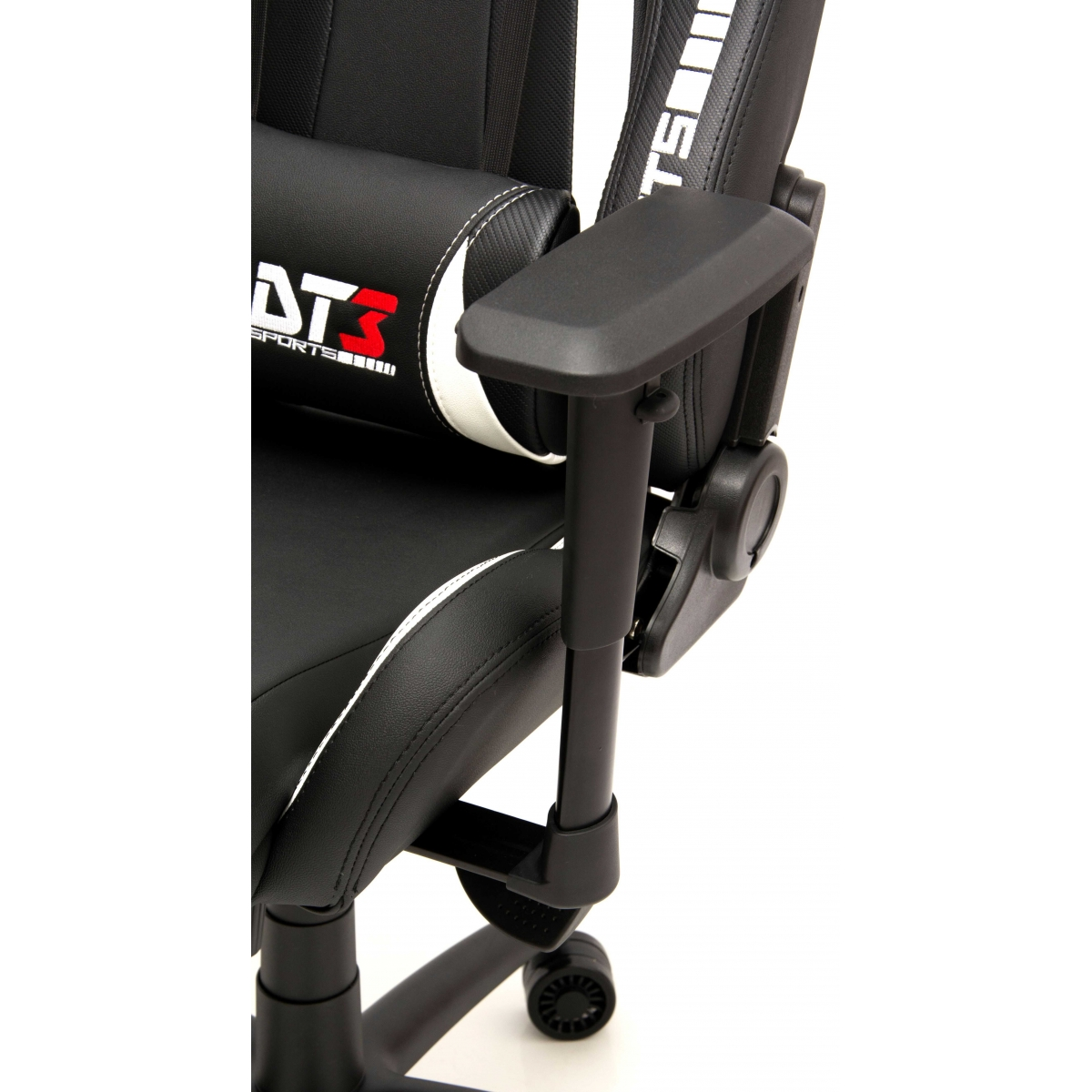 Cadeira Gamer DT3sports Elite Prime, Black-Carbon-White