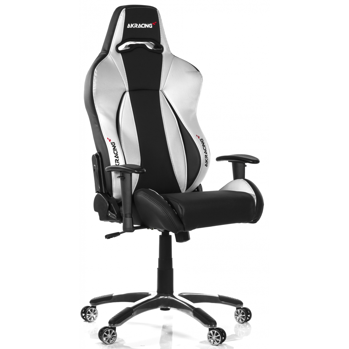 Cadeira Gamer AKRacing Premium V2, Reclinável, Black Silver,  AK-7002-BS