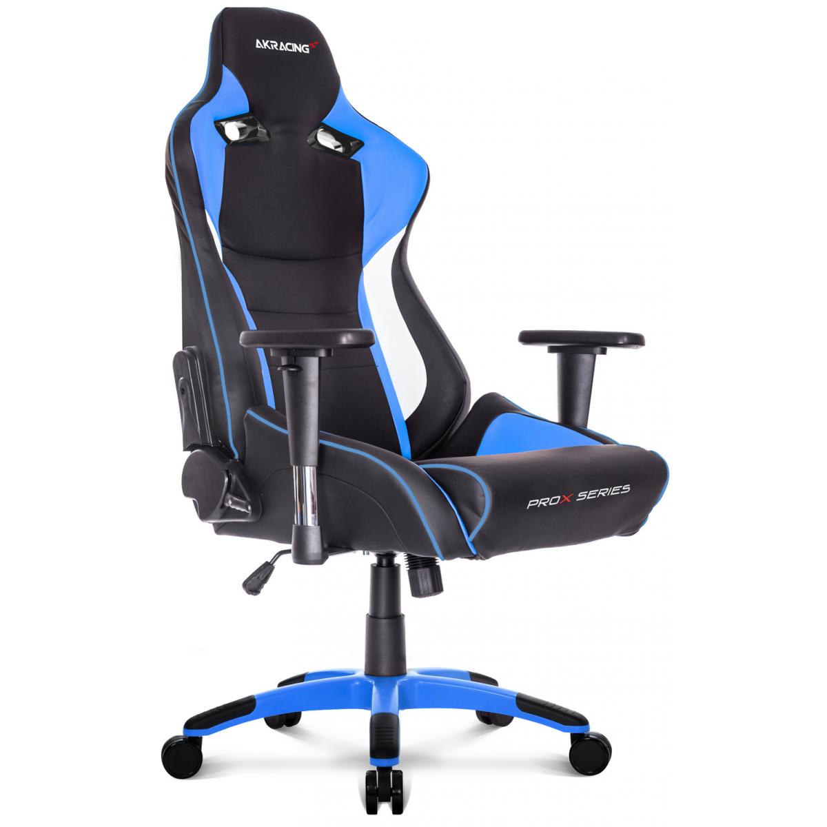 Cadeira Gamer AKRacing ProX, Reclinável, Blue, AK-PROX-BL