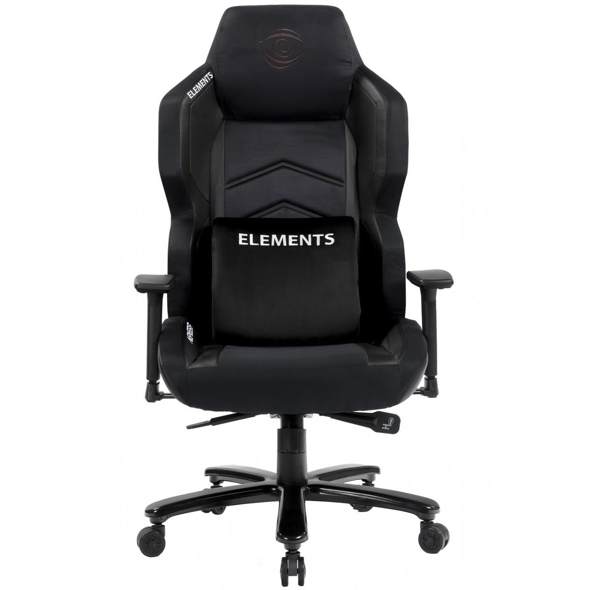 Cadeira Gamer Elements Magna NEMESIS, Reclinável, Black