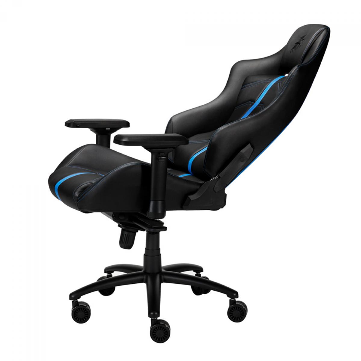 Cadeira Gamer FirstPlayer XI, Reclinável, Black and Blue