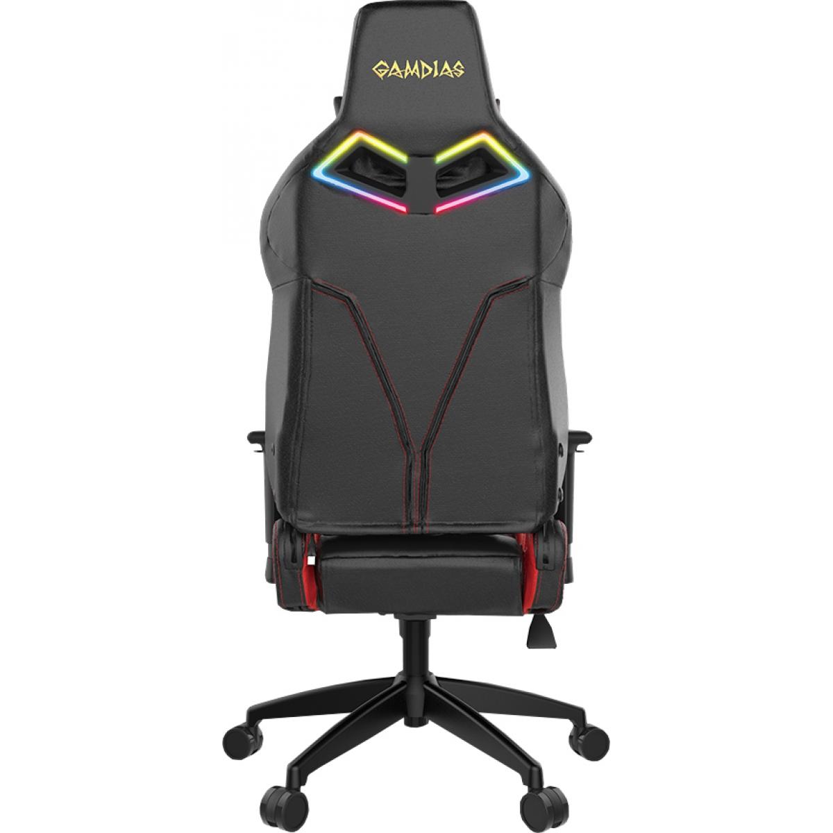 Cadeira Gamer Gamdias Achilles RGB E1 L, Black-Red, GD-ACHILLESE1LBR