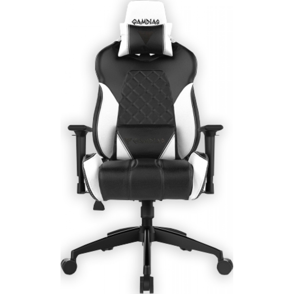 Cadeira Gamer Gamdias Achilles RGB E1 L, Black-White, GD-ACHILLESE1LBW