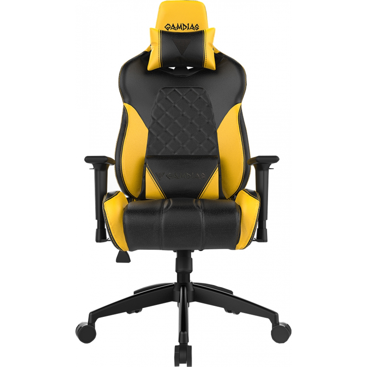 Cadeira Gamer Gamdias Achilles RGB E1 L, Black-Yellow, GD-ACHILLESE1LBY