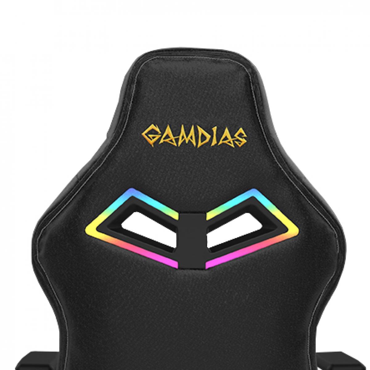 Cadeira Gamer Gamdias Achilles RGB E3 L, Black, GD-ACHILLESE3LB