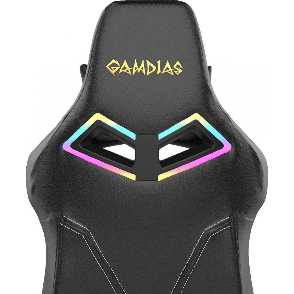 Cadeira Gamer Gamdias Achilles RGB M1A, Black, GD-ACHILLESM1ALB