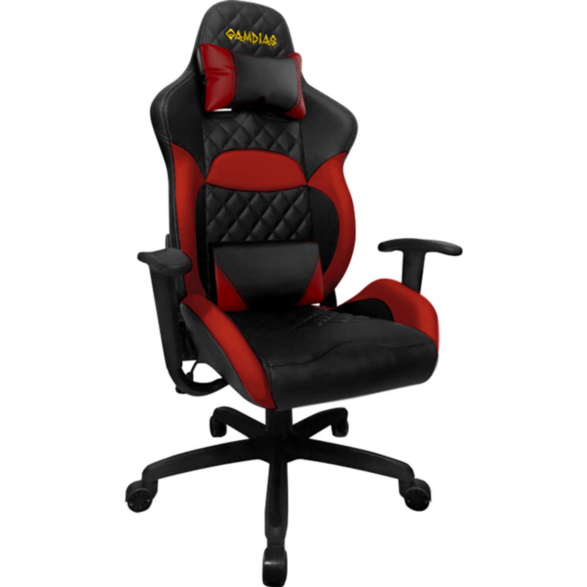 Cadeira Gamer Gamdias Zelus E1-L, Black-Red, GD-ZELUSE1LBR