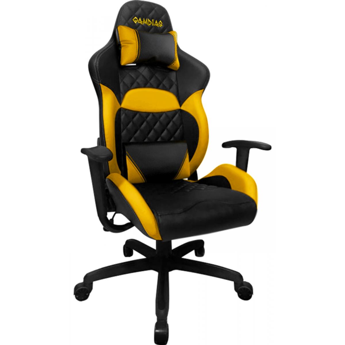 Cadeira Gamer Gamdias Zelus E1-L, Black-Yellow, GD-ZELUSE1LBY
