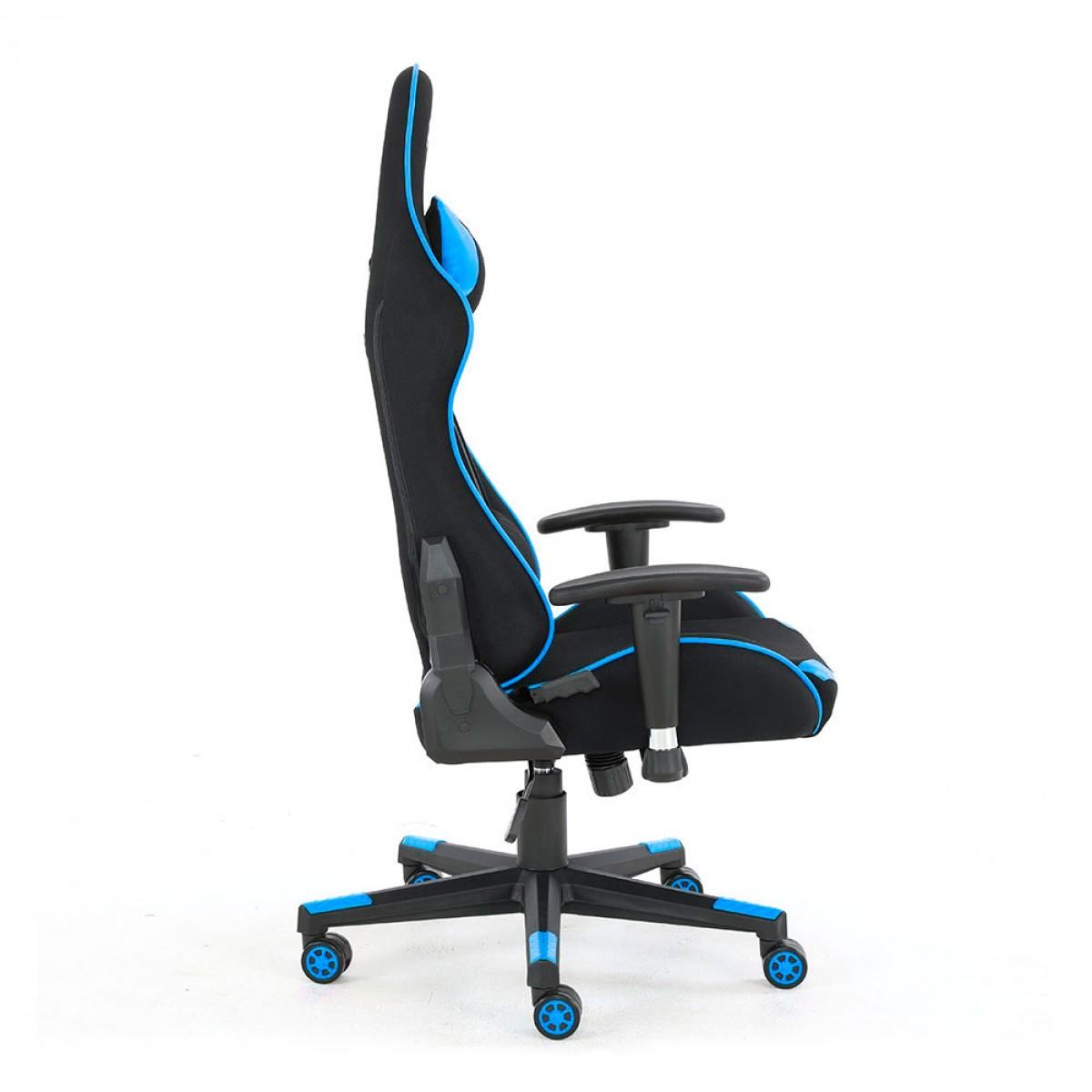 Cadeira Gamer PCTop Power, Reclinável, Black/Blue, X-2555