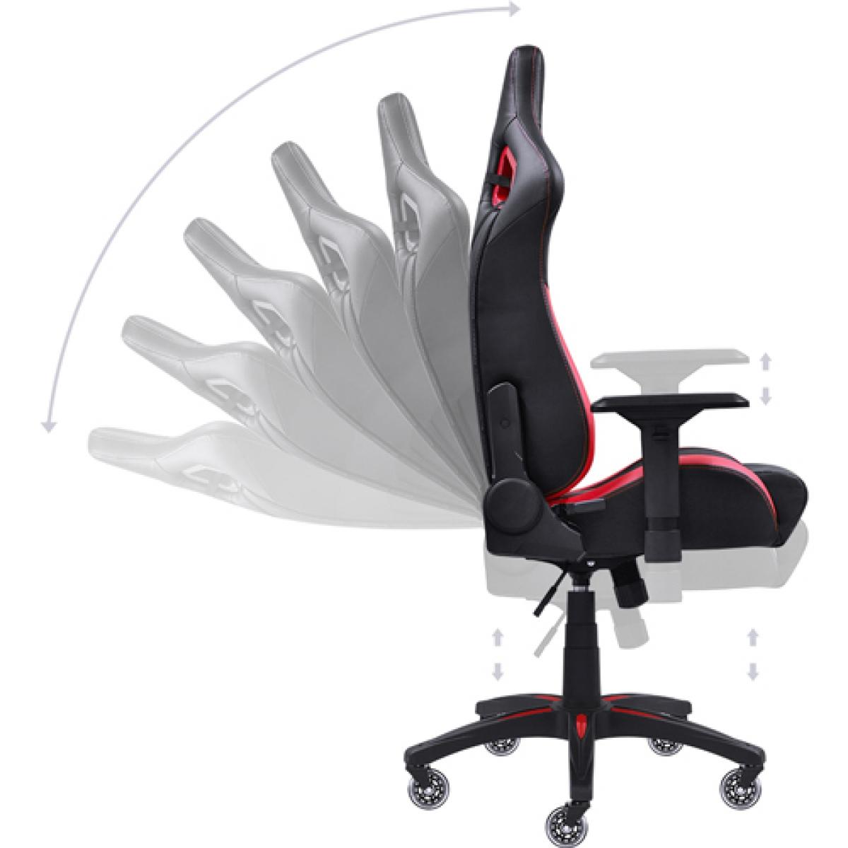 Cadeira Gamer PCYes Mad Racer V10, Black-Red, MADV10VMGL - Open Box
