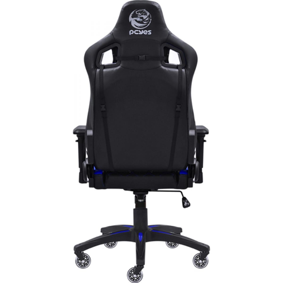 Cadeira Gamer PCYes Mad Racer V10, Black-Blue, MADV10AZGL