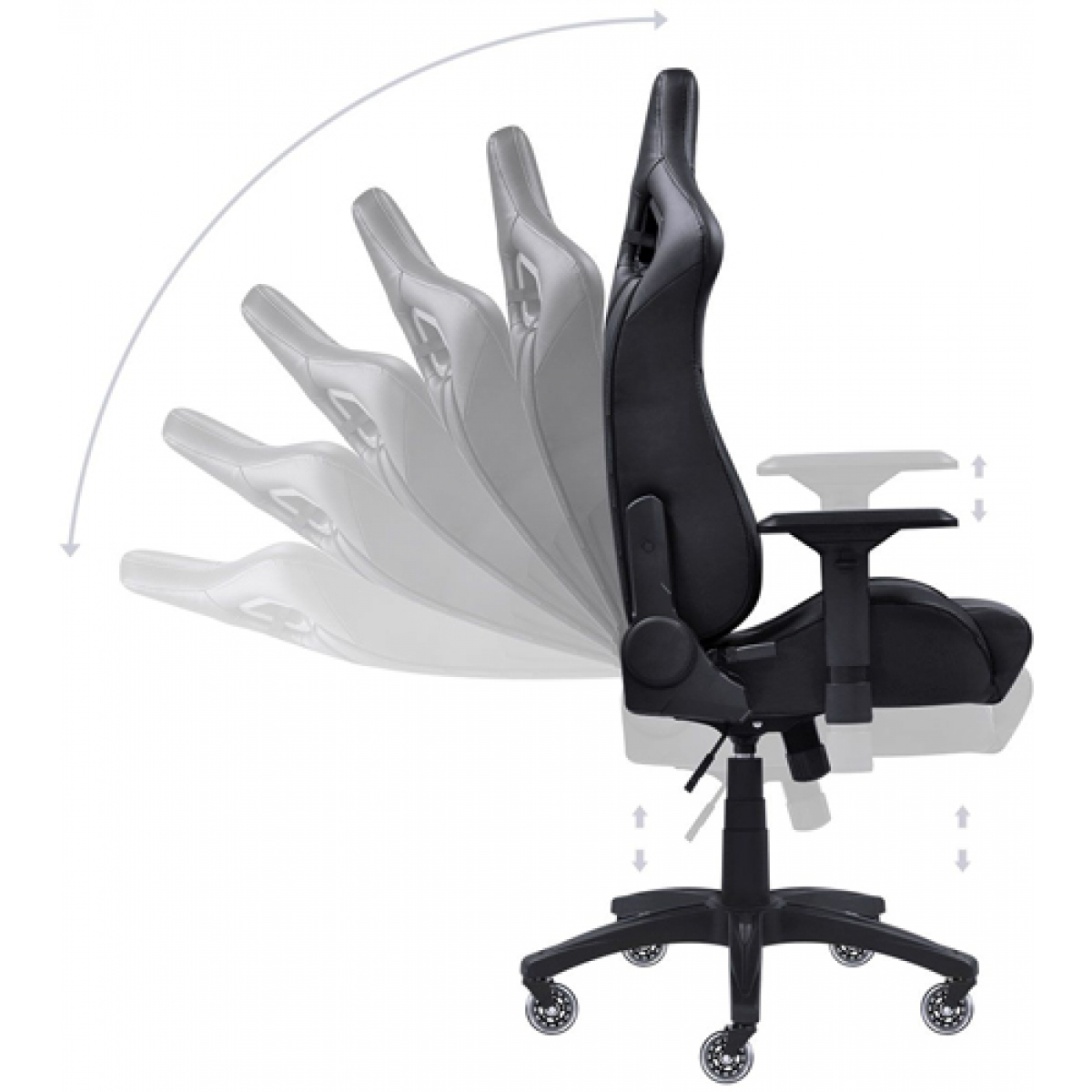 Cadeira Gamer PCYes Mad Racer V10, Black, MADV10PTGL