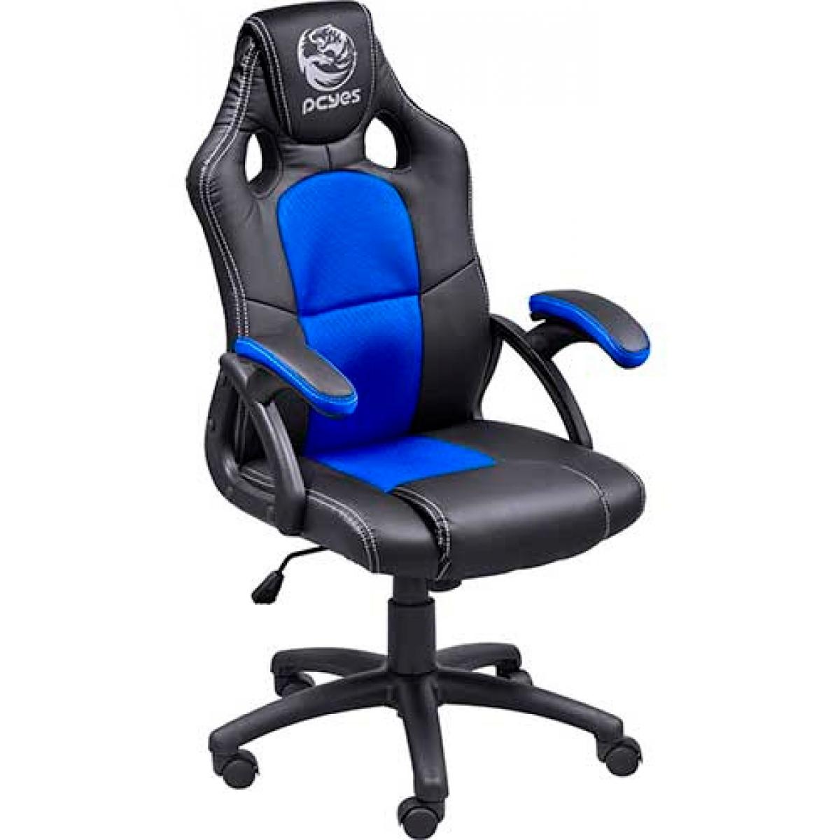Cadeira Gamer PCYes Mad Racer V6, Black-Blue, MADV6AZ