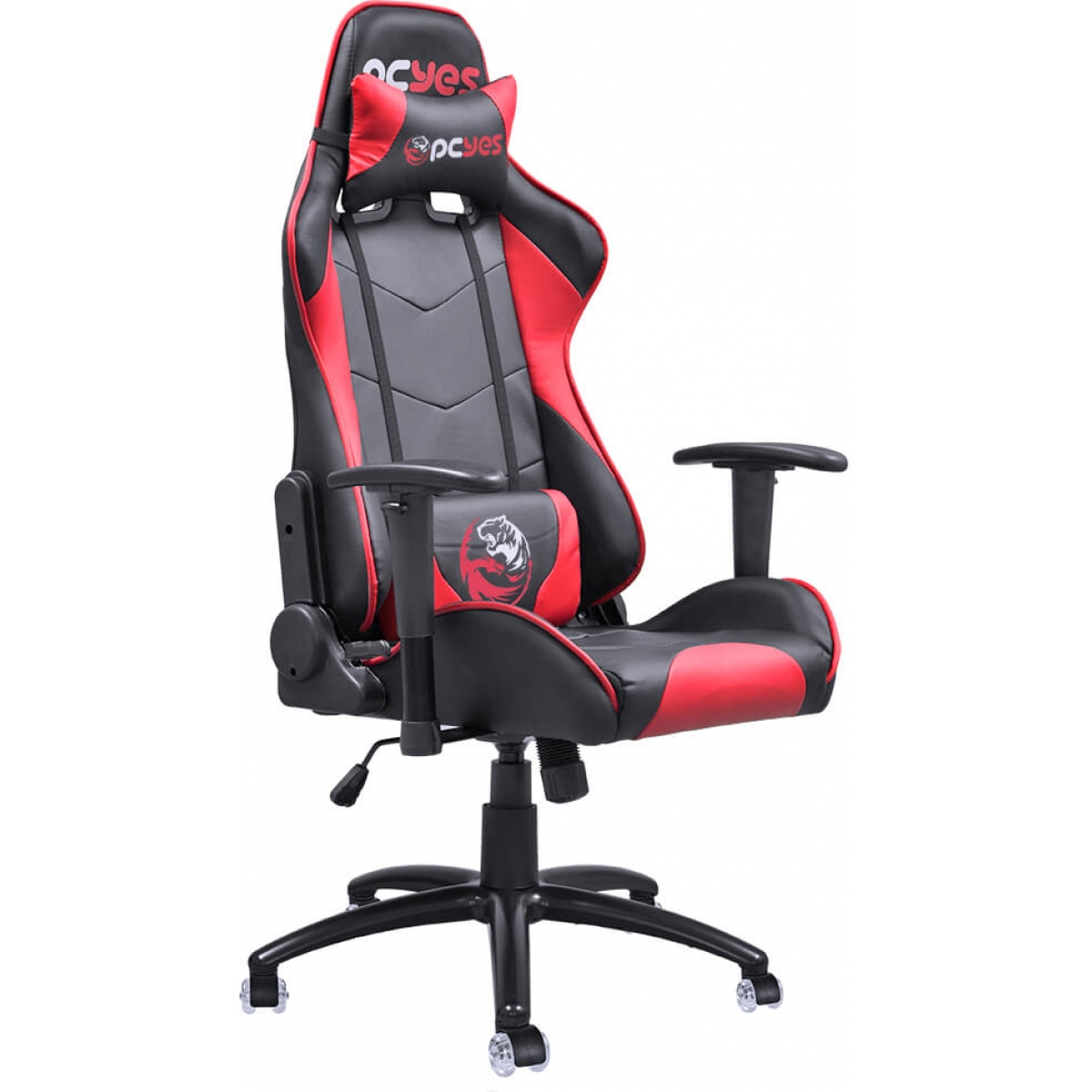 Cadeira Gamer PCYes Mad Racer V8, Black-Red, MADV8VMGL