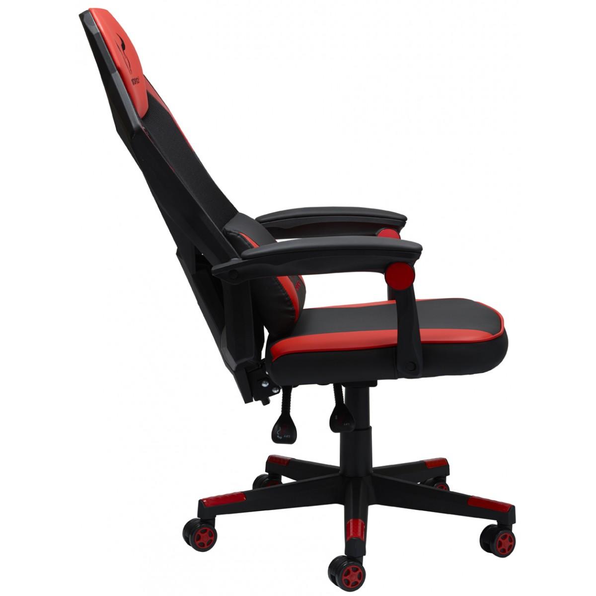 Cadeira Gamer Riotoro, Spitfire M1, Mesh, Reclinável, Black/Red, GC-10M1
